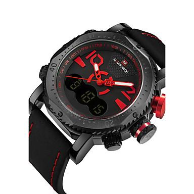 NAVIFORCE Bărbați Quartz Ceas de Mână Ceas Sport Calendar Zone Duale de Timp  PU Bandă Lux Casual Modă Cool Negru Maro Gri