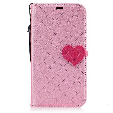 غطاء من أجل Samsung Galaxy J5 (2016) J3 (2016) حامل البطاقات محفظة مع حامل غطاء كامل للجسم خطوط / أمواج قلب قاسي جلد PU إلى J5 (2016) J3