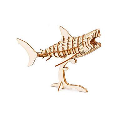 3D - Puzzle Holzpuzzle Holzmodell Spielzeuge Ente Shark Tier Tiere Heimwerken Holz Unisex Stücke