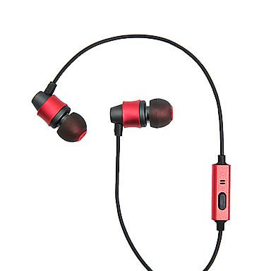 المحمول سماعة للكمبيوتر في الأذن السلكية المعادن 3.5 ملليمتر مع ميكروفون الضوضاء إلغاء