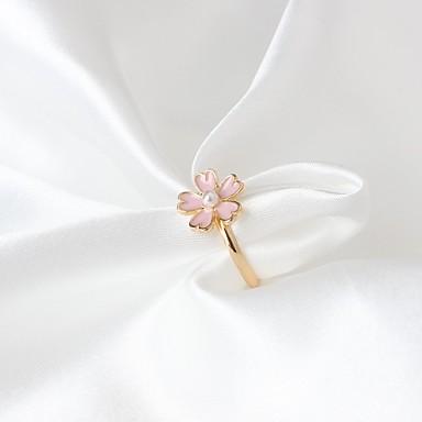 Ring Modieus Legering Bloemvorm Sieraden Voor Feest Dagelijks 1 Stuk