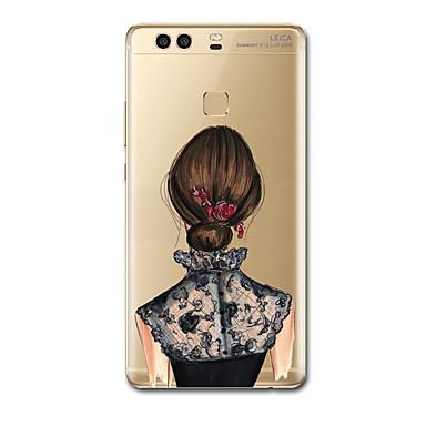 Kılıflar Kapaklar Huawei için Arka Kılıf Ultra İnce Temalı Seksi Kadın Yumuşak TPU P10 Plus P9 P9 Lite P9 Plus P8 P8 Lite P7 için