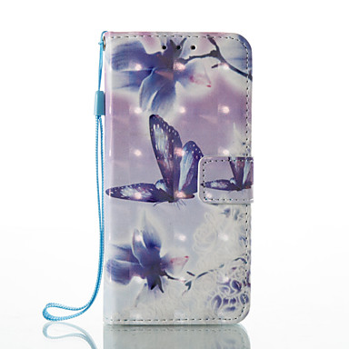 Maska Pentru Samsung Galaxy A5(2017) A3(2017) Titluar Card Portofel Cu Stand Întoarce Model Carcasă Telefon Fluture Greu PU piele pentru