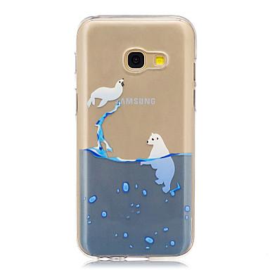 Maska Pentru Samsung Galaxy A5(2017) A3(2017) IMD Transparent Model Carcasă Spate Animal Moale TPU pentru A3 (2017) A5 (2017) A5(2016)