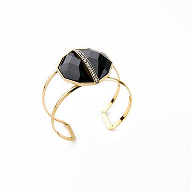 Damskie Bransoletki cuff Biżuteria Przyjaźń Modny Stop Geometric Shape Black Biżuteria Na Urodziny 1szt