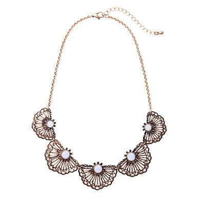 Damskie Oświadczenie Naszyjniki Geometric Shape Unikalny Modny White Biżuteria Na Urodziny Codzienny 1szt