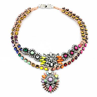 Γυναικεία Κρεμαστά Κολιέ Flower Shape Εξατομικευόμενο χαριτωμένο στυλ Ουράνιο Τόξο Κοσμήματα Για 1pc