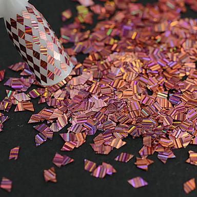 1 butelka nowy moda różowy słodki styl paznokci laserowy pasek romb cienki plasterek samotny piękno brokat olśniewający paillette