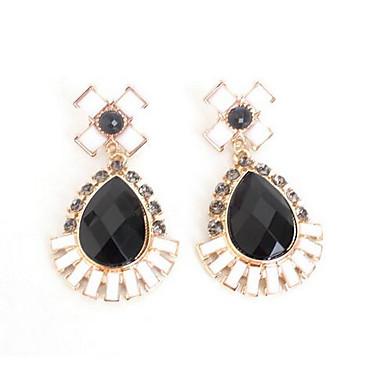Kolczyki wiszące Multi-kamień Wiszący Modny euroamerykańskiej Kamień szlachetny Black Biżuteria Na Ślub Impreza Specjalne okazje 1 para