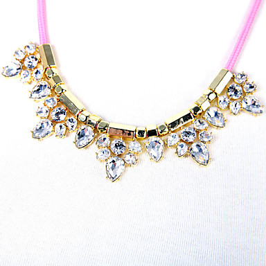 Kadın's Zincir Kolyeler Kristal Moda Çok güzel Kişiselleştirilmiş sevimli Stil Euramerican Gül Kırmızısı Mücevher Için Düğün Parti 1pc