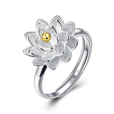 Kadın's Yüzük Mücevher Gümüş Som Gümüş Geometric Shape Çiçek Kişiselleştirilmiş Wzór geometryczny Dairesel Tasarım Eşsiz Tasarım Püskül