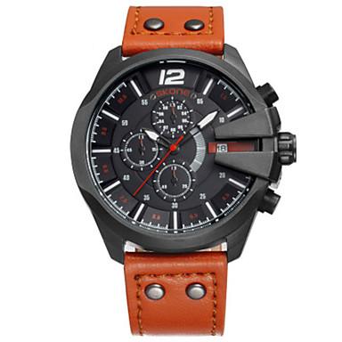 SKONE Bărbați Ceas La Modă Ceas digital Chineză Quartz Piele Bandă Negru Orange Maro