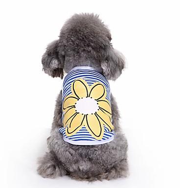 Pisici Câine Tricou Γιλέκο Îmbrăcăminte Câini Draguț Casul/Zilnic Modă Floare Albastru Costume Pentru animale de companie