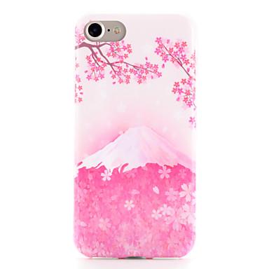 Kılıf Na Apple iPhone 7 Plus iPhone 7 Wzór Czarne etui Krajobraz Kwiaty Miękkie TPU na iPhone 7 Plus iPhone 7 iPhone 6s Plus iPhone 6s