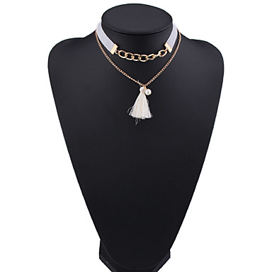 Γυναικεία Κολιέ Τσόκερ Κοσμήματα Κοσμήματα Συνθετικοί πολύτιμοι λίθοι Απομίμηση Μαργαριταριού Κράμα Μοντέρνα Euramerican Κοσμήματα Για