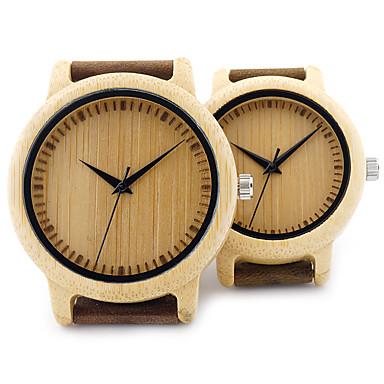 Çiftlerin Saat Ahşap Moda Saat Bilek Saati Benzersiz Yaratıcı İzle Gündelik Saatler Japonca Quartz Japon Kuvartz ahşap Gerçek Deri Bant