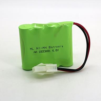 nikkel-waterstof batterij ni-mh aa 1800 mah 4.8v 557 kop 1 stks (groene kleur)