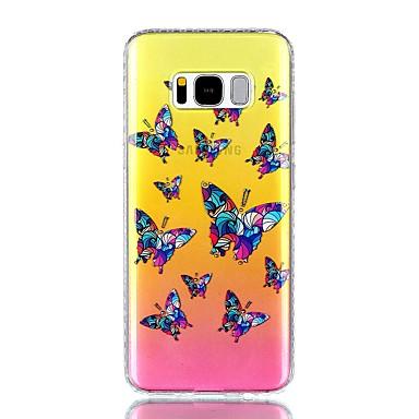 Etui Käyttötarkoitus Samsung Galaxy S8 Plus S8 Paljetti IMD Läpinäkyvä Kuvio Takakuori Perhonen Kova PC varten S8 S8 Plus S7 edge S7