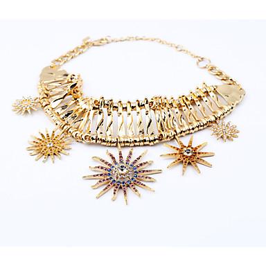 Kadın's Zincir Kolyeler Kristal Moda Kişiselleştirilmiş sevimli Stil Euramerican Sarı Mücevher Için Düğün Parti 1pc