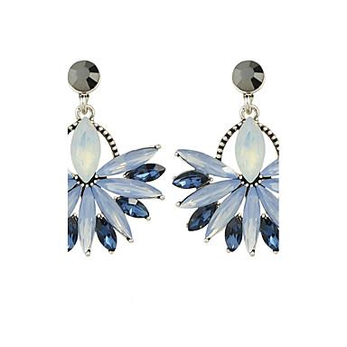 للمرأة أقراط قطرة تصميم فريد سبيكة وردة مجوهرات أزرق فضفاض مجوهرات