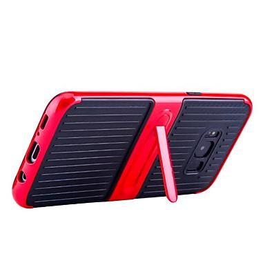 hoesje Voor Samsung Galaxy S8 Plus S8 met standaard Achterkantje Effen Kleur Hard Koolvezel voor S8 S8 Plus