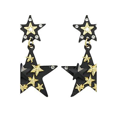 Kadın's Damla Küpeler Basic Tasarım kostüm takısı alaşım Star Shape Mücevher Uyumluluk Günlük