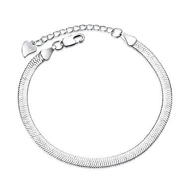 Kadın's Zincir & Halka Bileklikler Moda Gümüş Kaplama Line Shape Mücevher Yılbaşı Hediyeleri Düğün Parti Özel Anlar Hediye Kostüm takısı