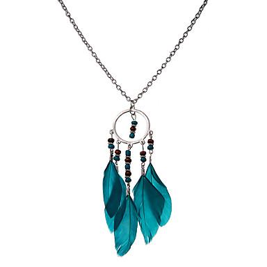 Pentru femei Coliere cu Pandativ - Design Unic Stil Atârnat Natură Sculptat Declarație Elegant Aripi / Pene Negru Albastru Închis