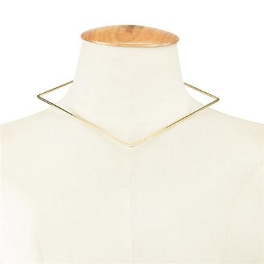 Damskie Geometric Shape Spersonalizowane Geometrické Modny euroamerykańskiej Naszyjniki choker Biżuteria Miedź Naszyjniki choker ,