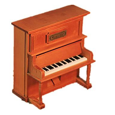Muziekdoos Hout Model Speeltjes Piano Hout Vintage Stuks Unisex Geschenk