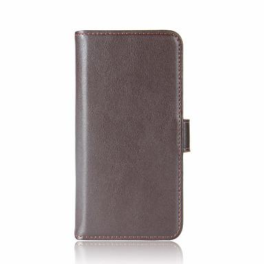 Für moto g5 plus g5 handy schalenkartenhalter wallet flip case vollkörper koffer solide farbe hart echt leder für motorola serie