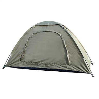 1 Person Zelt Einzeln Camping Zelt Einzimmer Falt-Zelt Wasserdicht Tragbar für Wandern Camping 2000-3000 mm Glasfaser Oxford CM