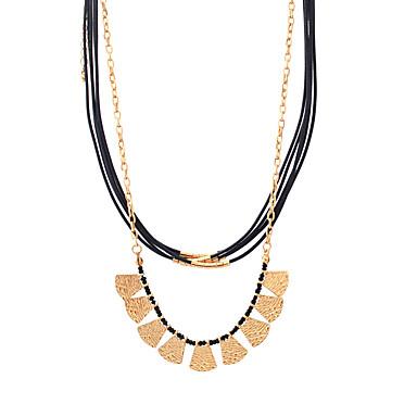 Dames Geometrische vorm Gepersonaliseerde Uniek ontwerp Tupsu Tag Hypoallergeen Turks Movie Jewelry Opvallende sieraden Dubbele laag