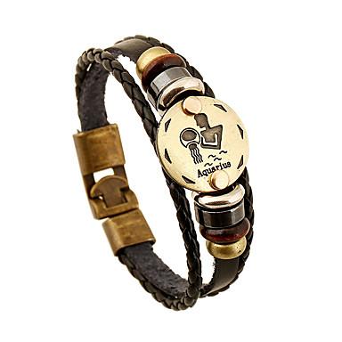 للرجال للمرأة أساور من الجلد قديم الصداقة جلد دائري مجوهرات الذكرى السنوية هدية الفالنتين مجوهرات أسود