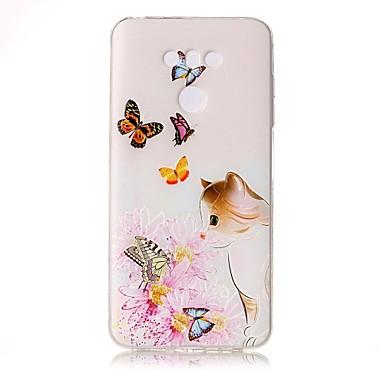 Varten kotelot kuoret Läpinäkyvä Koristeltu Kuvio Takakuori Etui Kissa Kukka Perhonen Pehmeä TPU varten LG LG G6