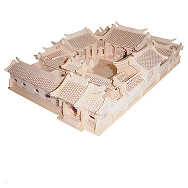 قطع تركيب3D الخشب نموذج مجموعات البناء ألعاب الزراعة الصينية خشب للجنسين قطع