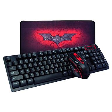 لاسلكي لوحة المفاتيح الماوس التحرير والسرد مع لوحة الماوس بطارة AA لوحة مفاتيح الألعاب