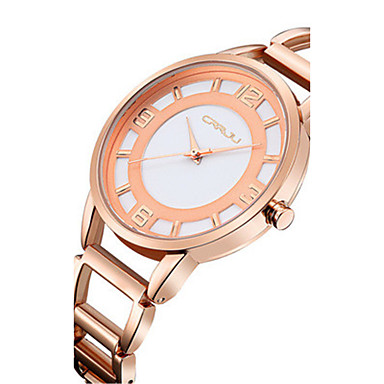 Dames Modieus horloge Kwarts Waterbestendig Roestvrij staal Band Zilver Goud Goud Rose