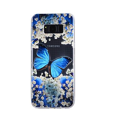 Hülle Für Samsung Galaxy S8 Plus S8 Transparent Geprägt Muster Rückseitenabdeckung Schmetterling Weich TPU für S8 S8 Plus S7 edge S7 S5