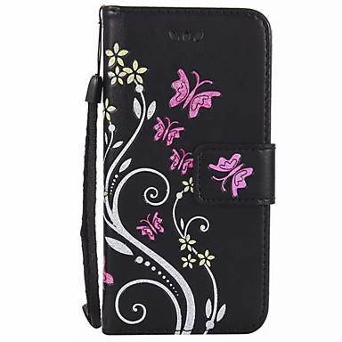 غطاء من أجل Apple iPhone 7 Plus iPhone 7 حامل البطاقات محفظة مع حامل قلب مطرز غطاء كامل للجسم زهور قاسي جلد PU إلى iPhone 7 Plus iPhone 7