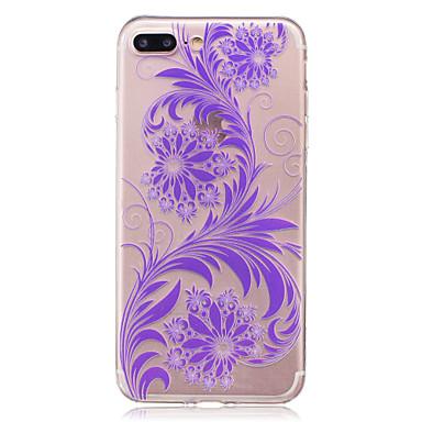 Hülle Für Apple iPhone 7 Plus iPhone 7 IMD Transparent Rückseite Blume Weich TPU für iPhone 7 Plus iPhone 7 iPhone 6s Plus iPhone 6s