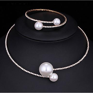 Pentru femei Seturi de bijuterii Κολιέ με Πέρλες Imitație de Perle Zirconiu Cubic Modă Multi-moduri Wear Nuntă Petrecere Logodnă Aliaj