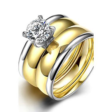Damen Verlobungsring Ring Bandring Gold Titanstahl Kreisförmig Brautkleidung Modisch Simple Style Weihnachts Geschenke Hochzeit Party
