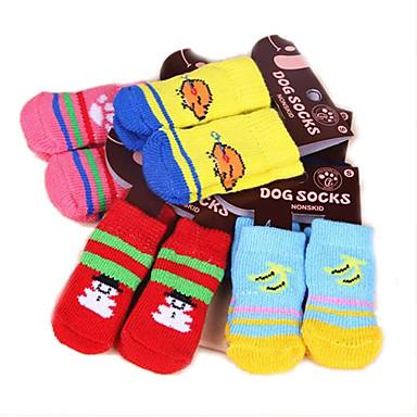 Kedi Köpek Çoraplar Sevimli Günlük/Sade Sıcak Tutma Karton Beyaz/Beyaz Açık Gri Herhangi Bir Renk siyah siyah + açık mavi Evcil hayvanlar