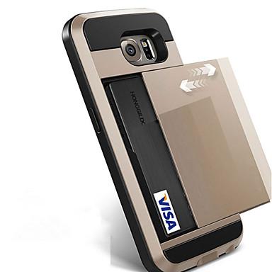 Недорогие Чехлы и кейсы для Galaxy S6-Кейс для Назначение SSamsung Galaxy S8 Plus / S8 / S7 edge Бумажник для карт Кейс на заднюю панель Однотонный Твердый ПК