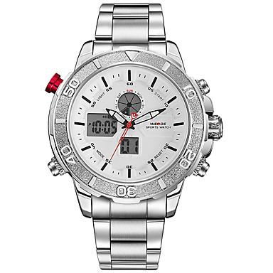 Męskie Sportowy Wojskowy Zegarek na nadgarstek Japoński Kwarcowy Cyfrowe Alarm Kalendarz Wodoszczelny LED Dwie strefy czasowe Stoper