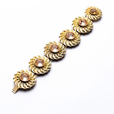 Kadın's Zincir & Halka Bileklikler Arkadaşlık Moda alaşım Flower Shape Mücevher Için 1pc