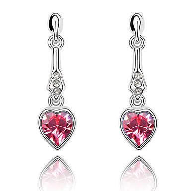 Damskie Kryształ Miłość Serce euroamerykańskiej Biżuteria Na Ślub Impreza Urodziny