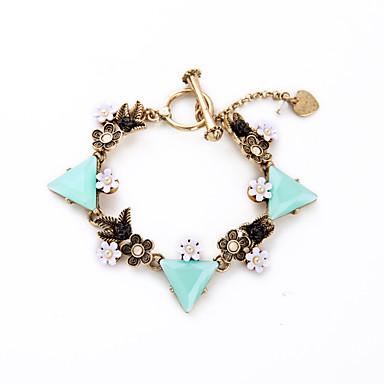 Damskie Bransoletki i łańcuszki na rękę Biżuteria Przyjaźń Modny Stop Triangle Shape Niebieski Biżuteria Na Ślub 1szt