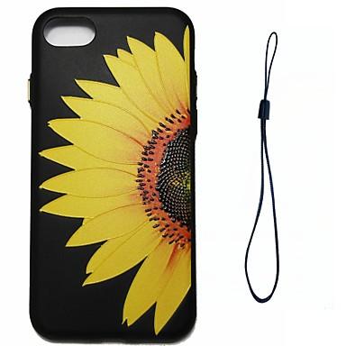 Pentru Apple iPhone 7 7 plus 6s 6 plus se 5s 5 caz acoperă floarea-soarelui floare model injecție de combustibil injecție de umplere buton